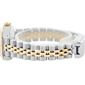 Rolex Datejust 69173 26mm Mother Of Pearl Diamond 18K Yellow Gold Stainless Steel Watch