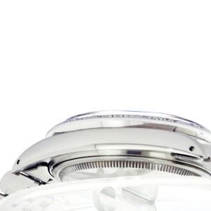 Rolex Datejust 16104 Blue Luminous Diamond Pyramid Stainless Steel Watch