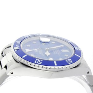 Rolex Submariner 16610 Stainless Steel & Blue Diamond Dial 40mm Mens Watch