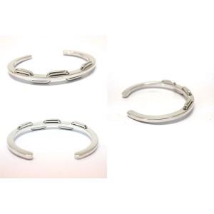 Hermes Silver Bangle Bracelet