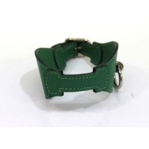 Hermes Epsom Leather Green Bangle Bracelet