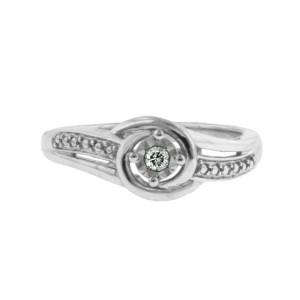 Sterling Silver Modern Bride Ring