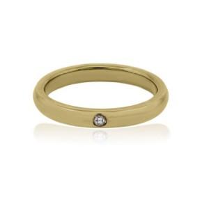 Tiffany Elsa Peretti Yellow Gold Diamond Ring