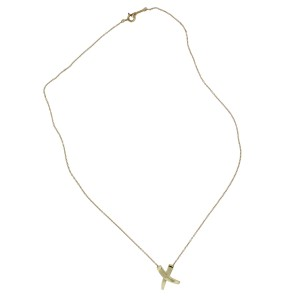 Tiffany & Co. Paloma Picasso 18k Yellow Gold X Necklace