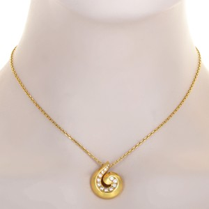 Van Cleef & Arpels 18K Yellow Gold 0.70 Ct Diamond Breeze Pendant Necklace