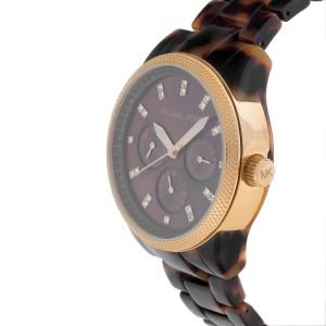 Michael Kors Jet Set MK5038 Tortoise Shell Acrylic 36mm Womens Watch