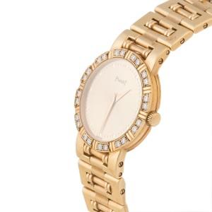 Piaget Dancer 18K Yellow Gold & Diamond Bezel 24mm Womens Watch