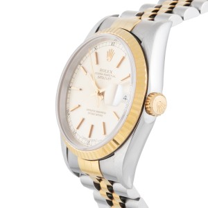 Rolex Datejust 16233 Two Tone 18K Yellow Gold/Stainless Steel 36mm Unisex Watch