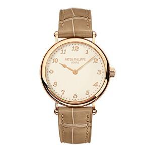 Patek Philippe Ladies Calatrava 18K Rose Gold Watch on Leather Strap 7200R