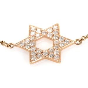 18K Yellow Gold Diamond Pave Star Of David Bracelet