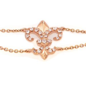 18K Rose Gold Diamond Medieval Motif Bracelet