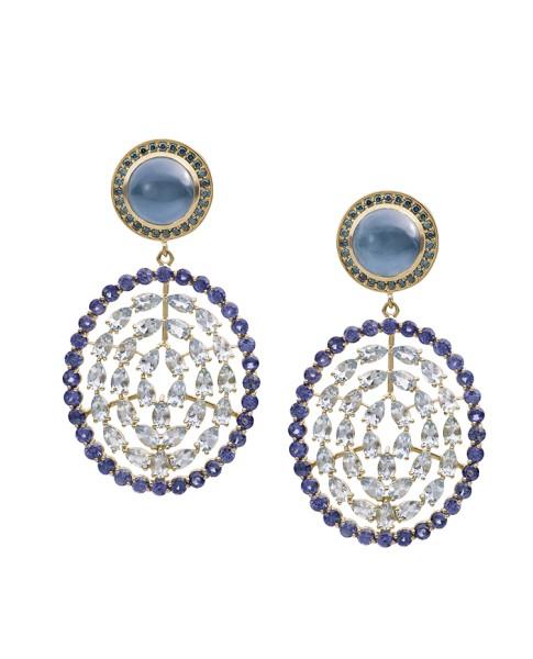 18K Gold Aquamarine Plima Earrings