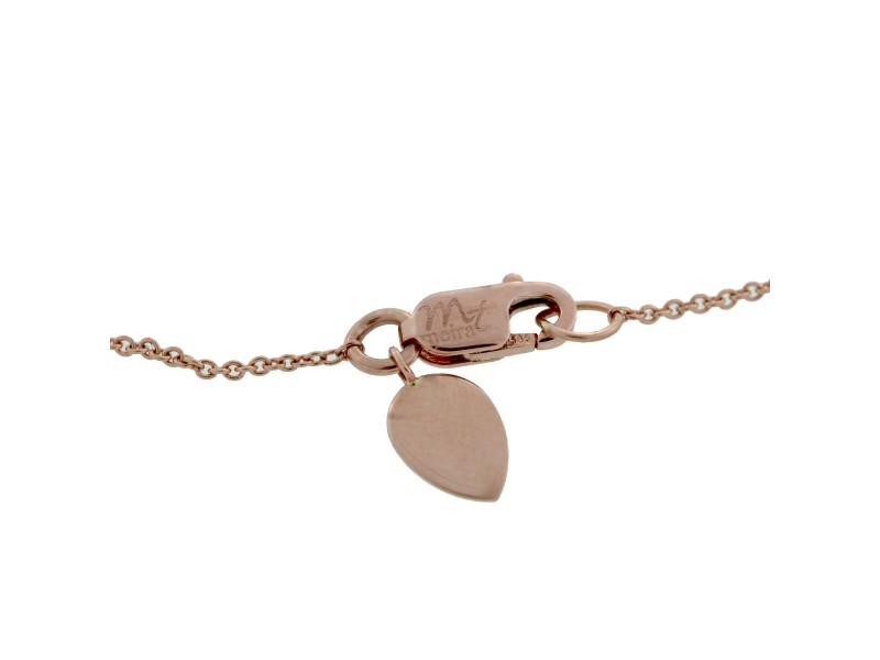 Meira T 14K Rose Gold 0 13ctw Diamond Bar Bracelet Meira T