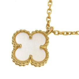 Van Cleef & Arpels Sweet Alhambra 18K Yellow Gold Necklace