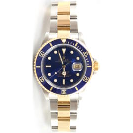 Rolex Submariner 16613 Stainless Steel and Gold Blue Dial