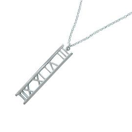 Tiffany & Co. 18K White Gold Atlas Open Necklace