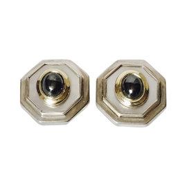 David Yurman 14K Two-Tone Gold Mother Of Pearl & Hematite Earrings
