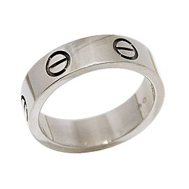 Cartier Love 18K White Gold Band Ring Size 5.5