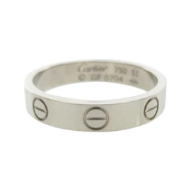 Cartier 18K White Gold Mini Love Ring Size 5.75