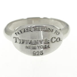 Tiffany & Co. Sterling Silver Return To Tiffany Oval Ring Size 6.75