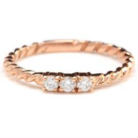 14K Rose Gold .15ct Natural Diamond Ring Size 6.5