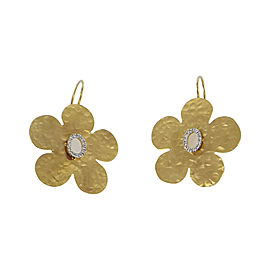 I. Reiss 14K Yellow Gold 0.20ct Diamond Flower Earrings