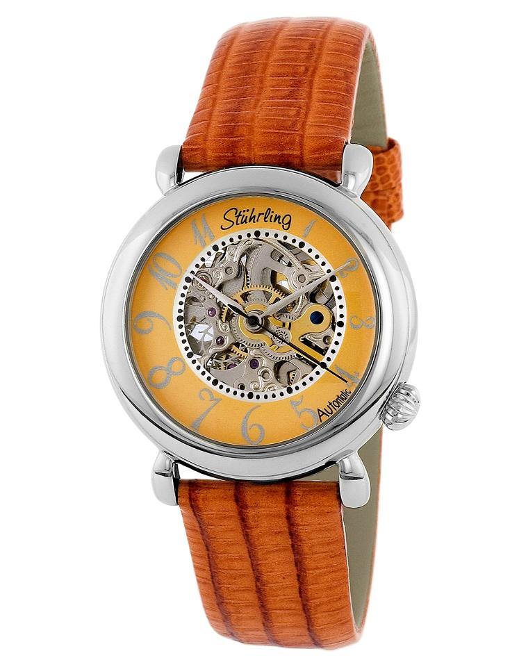 """Image of """"Stuhrling Wall Street 108.1215F58 Stainless Steel & Leather MOP 35mm"""""""