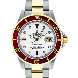 Rolex Submariner 16613 Stainless Steel & 18K Yellow Gold Diamond and Ruby 40mm Mens Watch