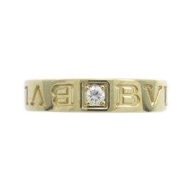 Bulgari Bvlgari 18K Yellow Gold Diamond Ring Size 3.75