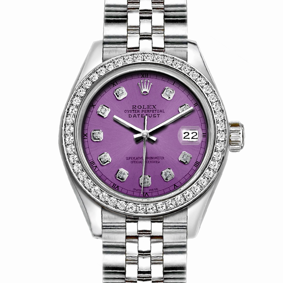 "Image of ""Rolex Datejust Stainless Steel Purple Dial 36mm Mens Watch"""