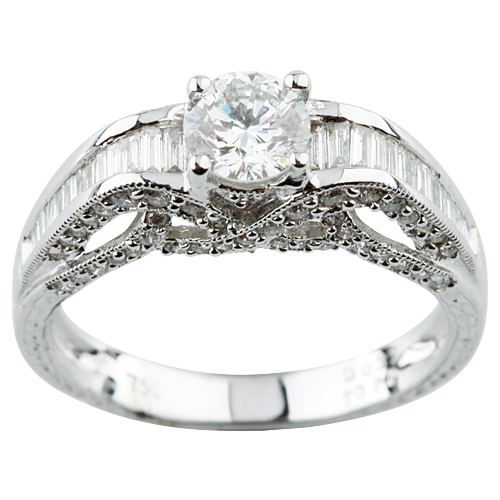 """Image of """"18K White Gold and 0.53ct Round Diamond Engagement Ring Size 6"""""""