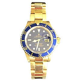 Rolex Submariner 18K Yellow Gold 40mm Watch