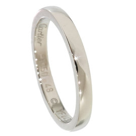Cartier 950 Platinum Simple Wedding Band Ring Size 4.5