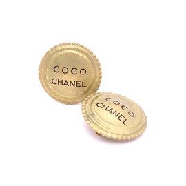 Chanel Gold Tone Hardware CC Logo Clip On Earrings