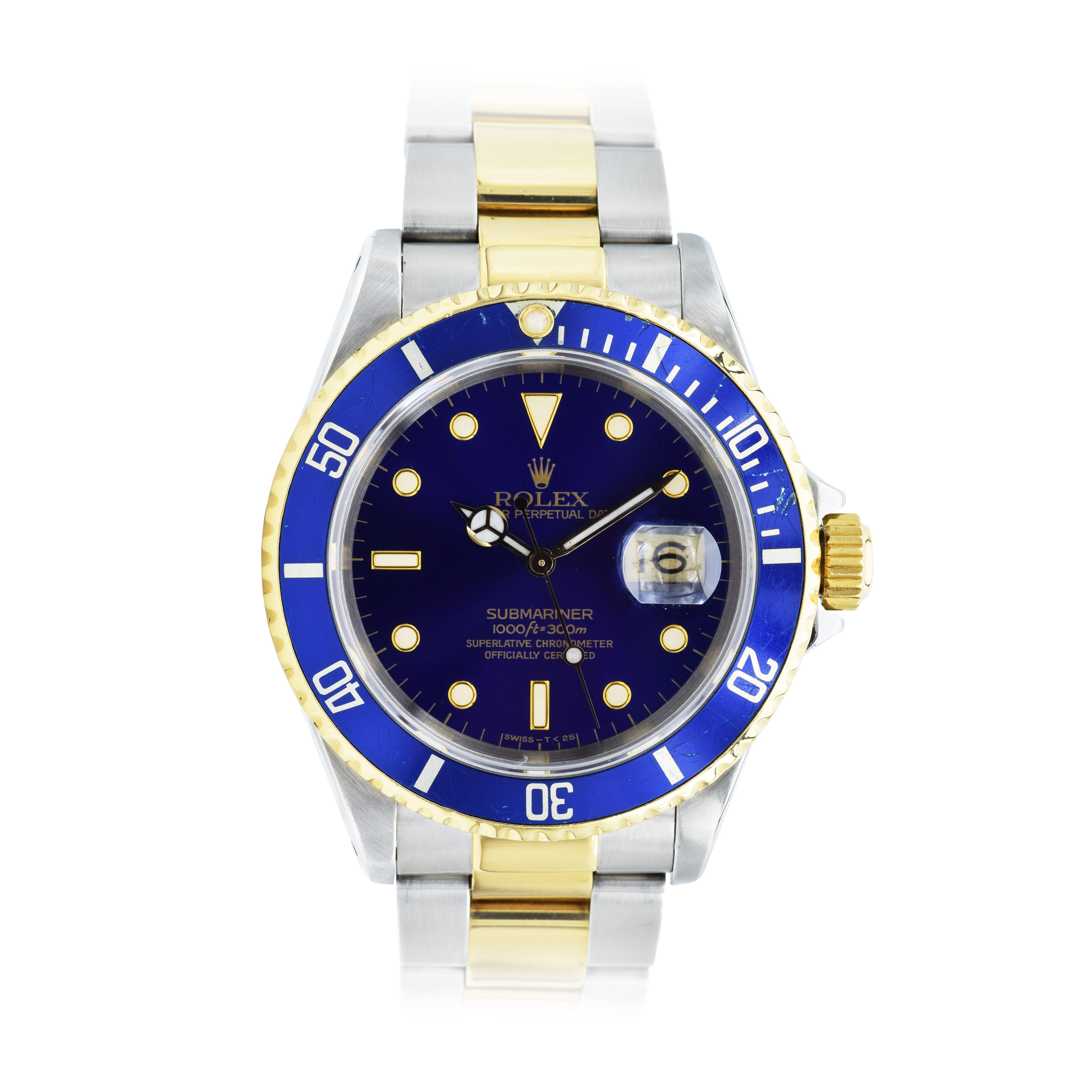"Image of ""Rolex Submariner 16613 Stainless Steel and 18K Yellow Gold Blue Dial"""