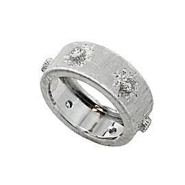 Bucellati Classica 18K White Gold & Diamonds Ring Size 6.75