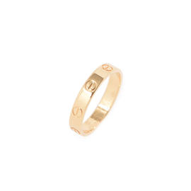 Cartier Mini Love 18K Yellow Gold Ring Size 6.75