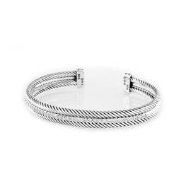 David Yurman Cable Single Row with Diamonds Bracelet