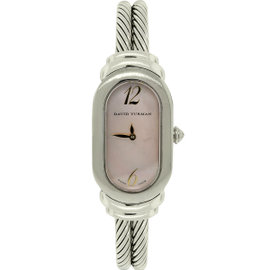 David Yurman Pink Mother of Pearl Double Cable Womens Watch