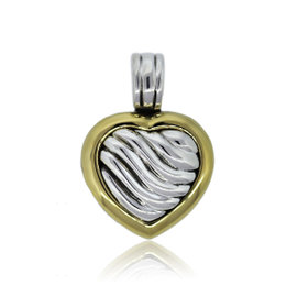 David Yurman Two Tone Locket Pendant Enhancer