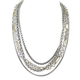 David Yurman Sterling Silver & 18K Yellow Gold Chain Necklace