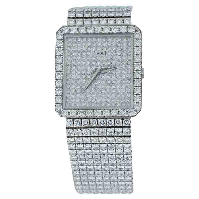 "Image of ""Piaget Classique 18K White Gold & Diamond 29mm Watch"""