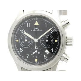 IWC Flieger Chronograph Stainless Steel Quartz 36mm Mens Watch