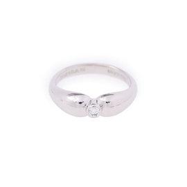 Tiffany & Co. 950 Platinum Double Teardrop Diamond Ring Size 5.25