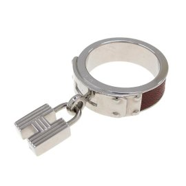 Hermes Silver Tone Metal Scarf Ring