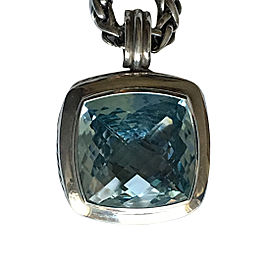 David Yurman 20MM Sterling Silver Blue Topaz Albion Enhancer