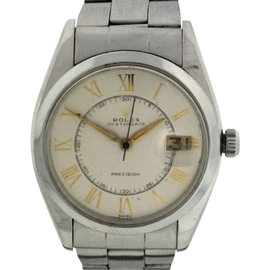 Rolex Oyster Date Stainless Steel Automatic 34mm Vintage Mens Watch