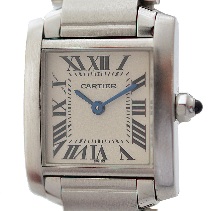 """Image of """"Cartier Tank Francaise Stainless Steel Quartz 25mm Womens Watch"""""""