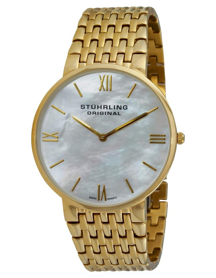 """Image of """"Stuhrling Meydan Concourse 509.33337 Gold-Tone Stainless Steel & MOP"""""""