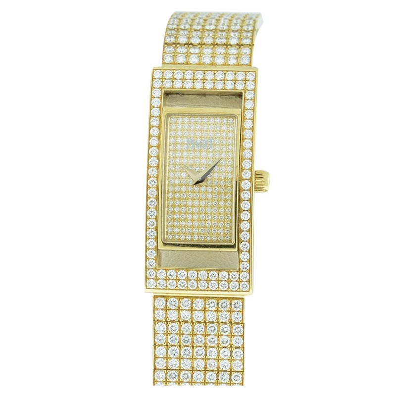 """Image of """"Piaget Classique 18K Yellow Gold with Diamonds Womens Watch"""""""